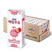 멸균우유(딸기) 200ml (매일)-주문후 다음 배송발송 ★반품불가상품★